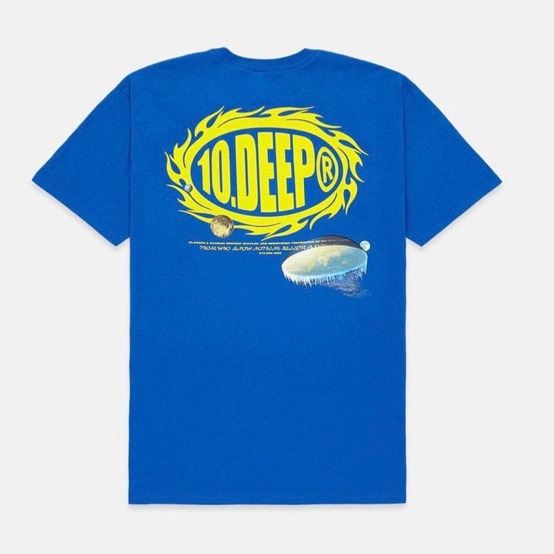 10 Deep Flat Earth SS T Shirt (Blue)