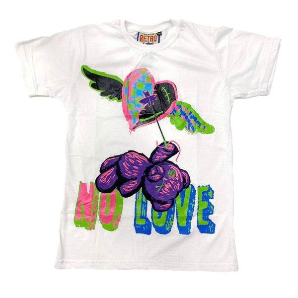 Retro Label 5s Bel Air No Love SS Tee (White)