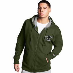Champion Powerblend Fleece Zip Hoodie (Cargo Olive) GF91H