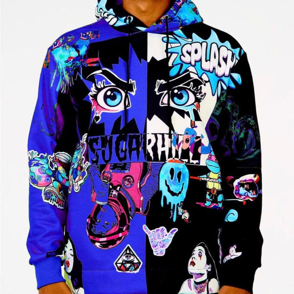 Sugar Hill Split Psycho Hoodie (Royal/Black) SH-FALL20-02