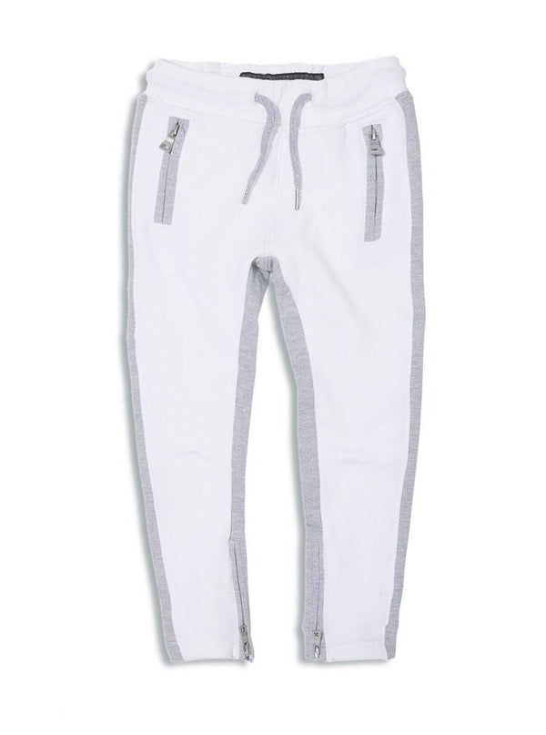 KIDS JORDAN CRAIG FLEECE TRACK PANTS - WHITE