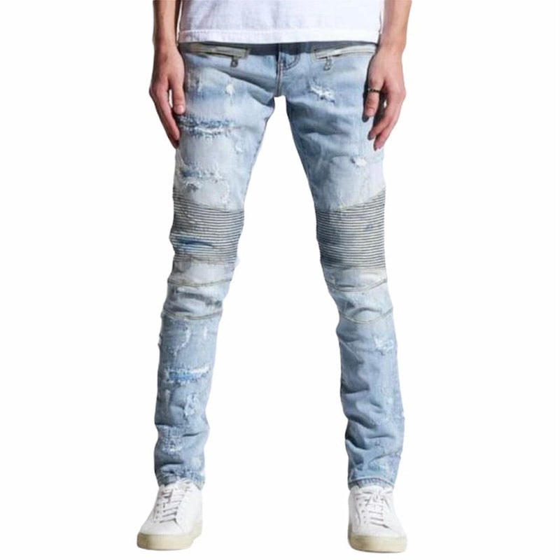 Embellish Cirrus Biker Denim (Lt Blue) EMBSP121-131