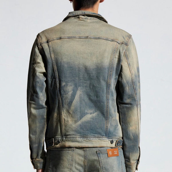 Crysp Bering Denim Jacket (Fade Sand) CRYSPFA120-208