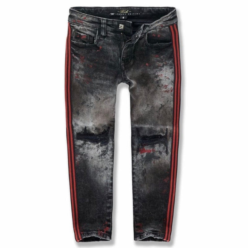 Kids Jordan Craig Sugar Hill Striped Denim Jeans (Crimson) JM3430K
