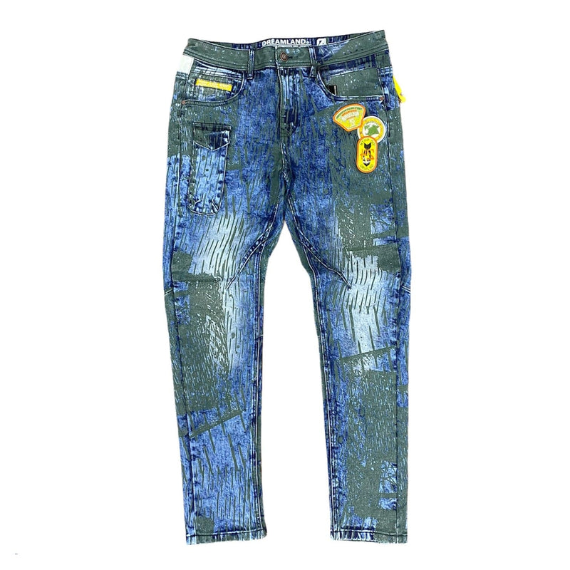 Dreamland Tiger Vs Crane Denim Jeans (Blue/Black) D2010D0368