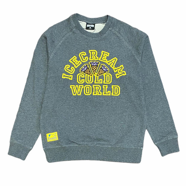 Ice Cream Cold World Crewneck (Dark Heather Grey) 401-9308