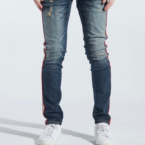 Crysp Atlantic Striped Jean  Indigo