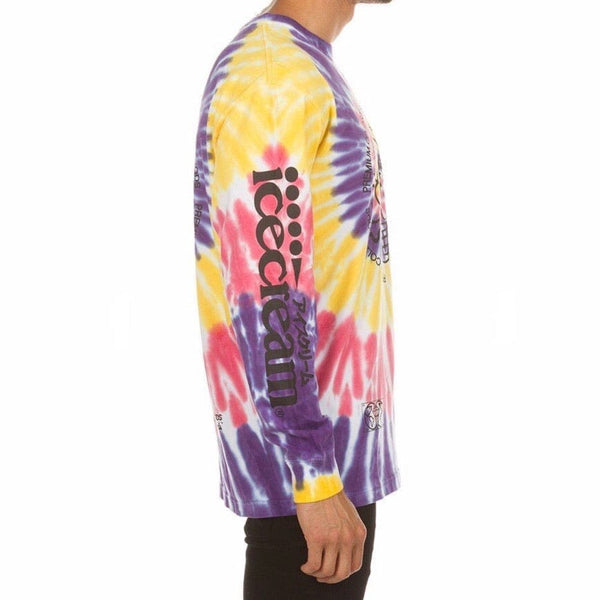 Ice Cream Cold Goods Long Sleeve Knit Shirt (Tie Dye)