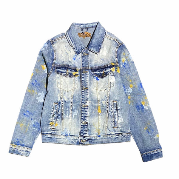 Crysp Bering Denim Jacket (Indigo Paint) CRYSPSP121-204