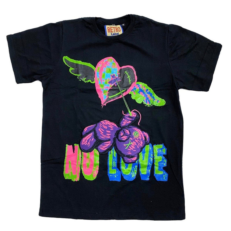 Retro Label 5s Bel Air No Love SS Tee (Black)