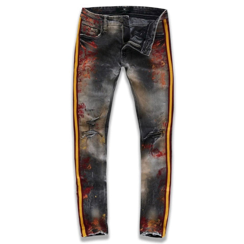 Jordan Craig Sean Talladega Striped Denim Jeans (Fire City) JM3403