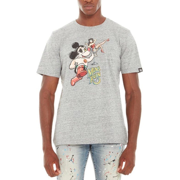 Cult Of Individuality Astro Mouse T Shirt (Grey)