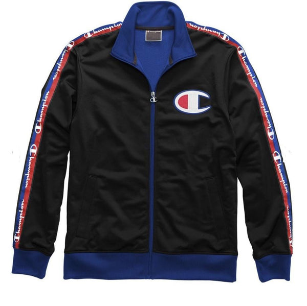 CHAMPION TRACK JACKET BLACK/SURF