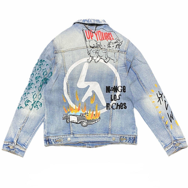 Lifted Anchors City Hall Denim Jacket (Blue)
