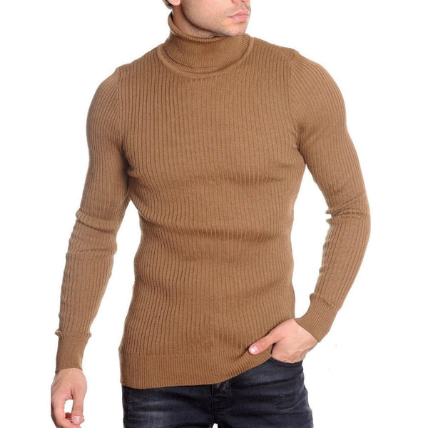 LCR Black Edition Turtleneck Sweater (Dark Beige) 1670C