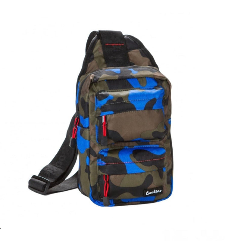 Cookies Smell-Proof Sling Bag (Blue Camo)