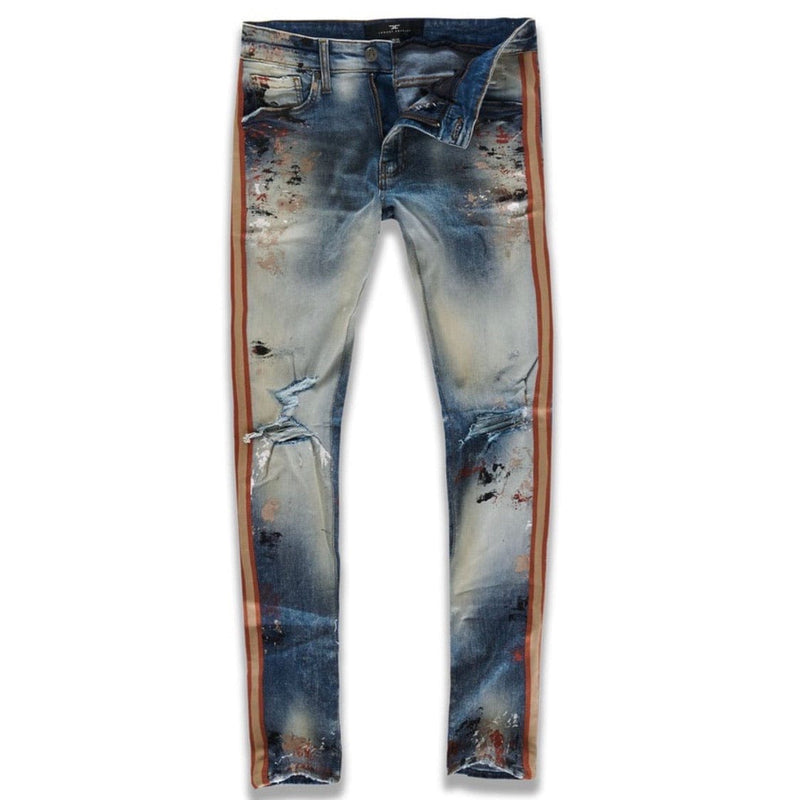 Jordan Craig Sean Talladega Striped Denim Jeans (Summer Storm) JM3403