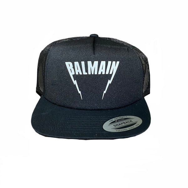 Bleach Goods Balmain Trucker Hat (Black/Black)