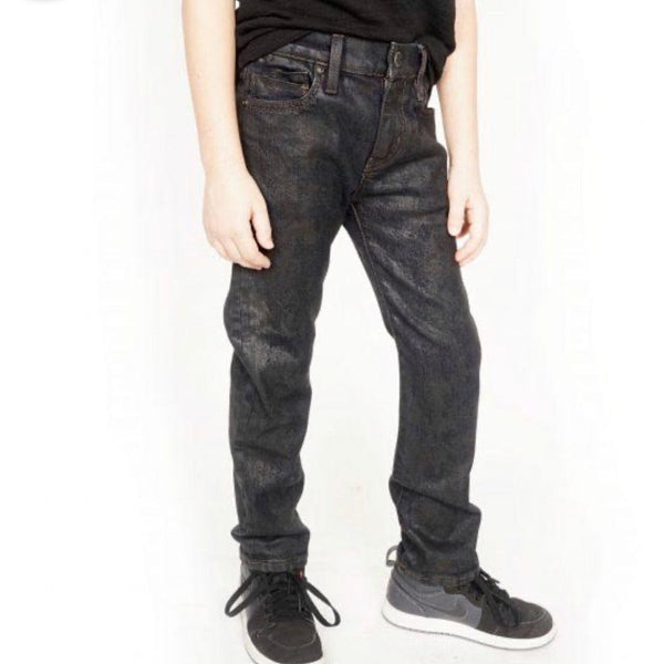Kid's Cult Rogue Slim Straight Stretch Denim Jeans (Black Ice) 87B9-BRS0C