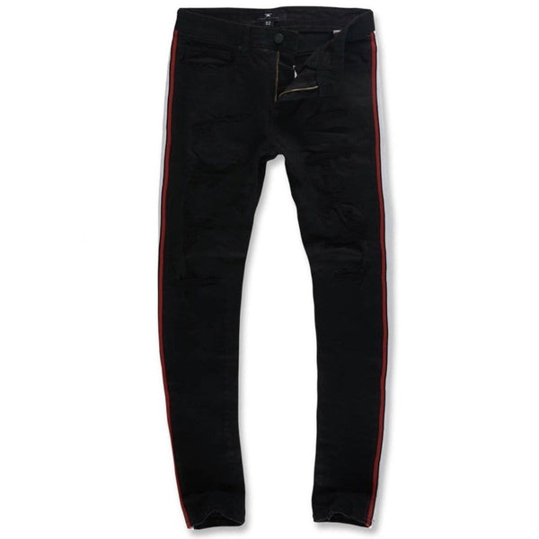 Jordan Craig Sean Grand Prix Striped Denim (Jet Black)