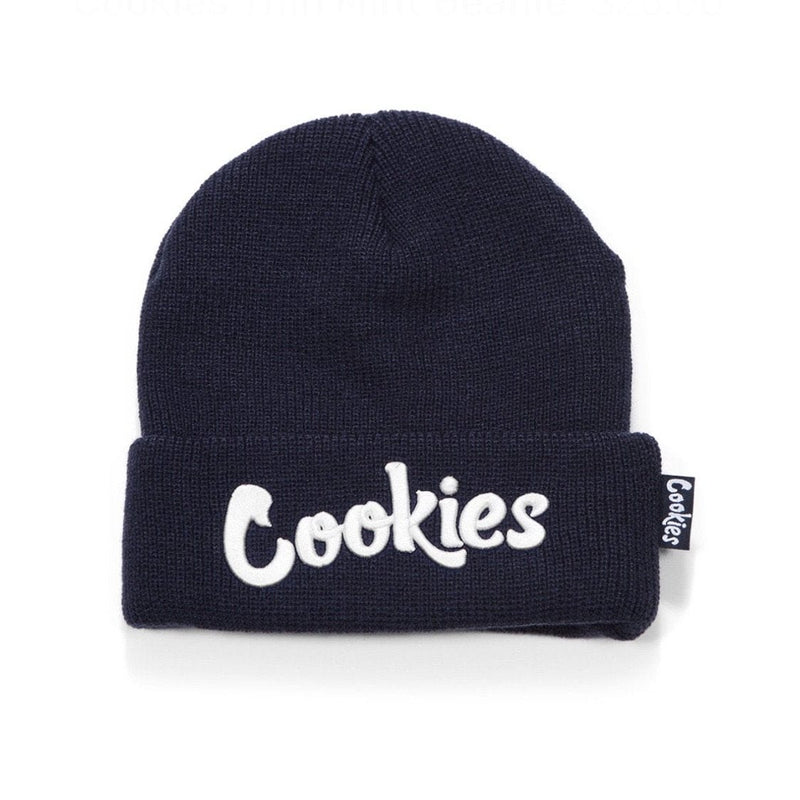 COOKIES KNIT BEANIE ORIGINAL MINT NAVY/WHITE