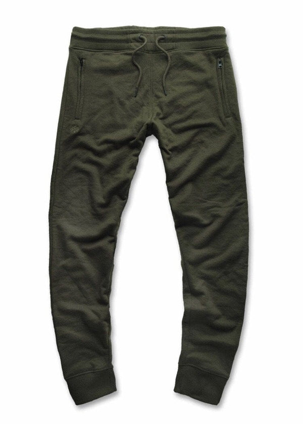 JORDAN CRAIG FRENCH TERRY JOGGER SWEATPANTS - ARMY GREEN