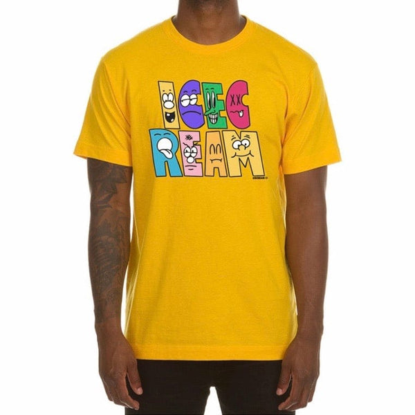 Ice Cream Characters Short Sleeve Tee (Spectra Yellow) 401-9204
