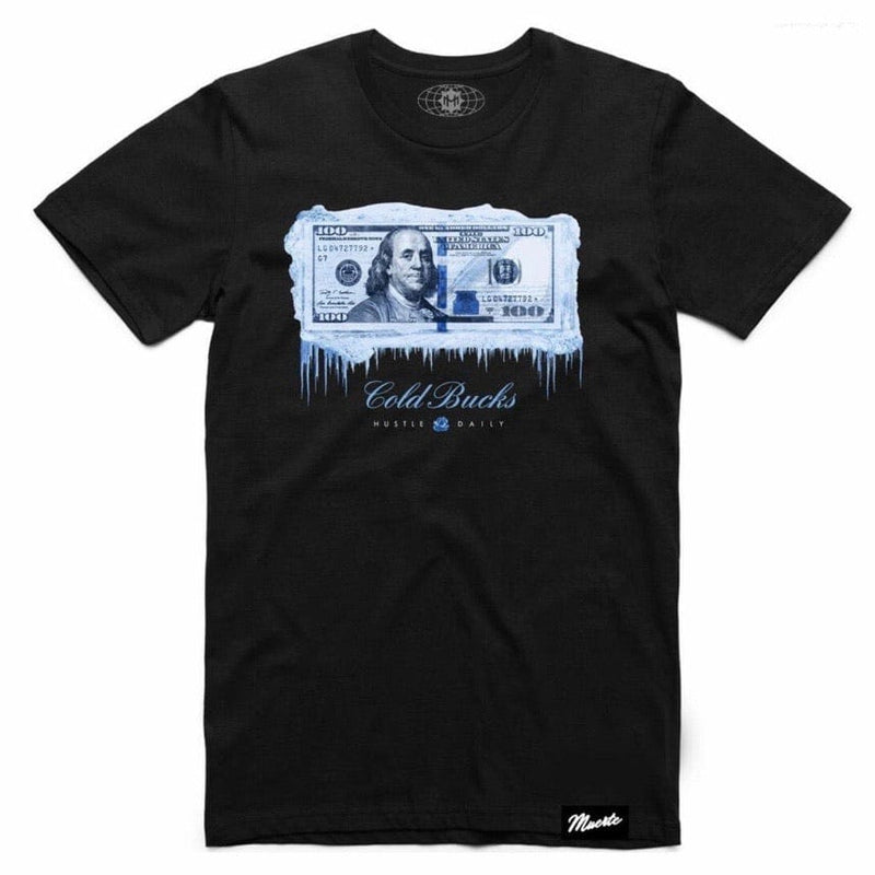 Muerte Hustle Daily Aj1 Unc Cold Bucks T Shirt (Black)