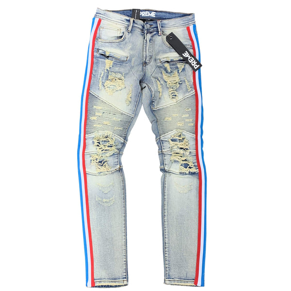 PREME JEAN RUSSEL TAPE RED/BLUE