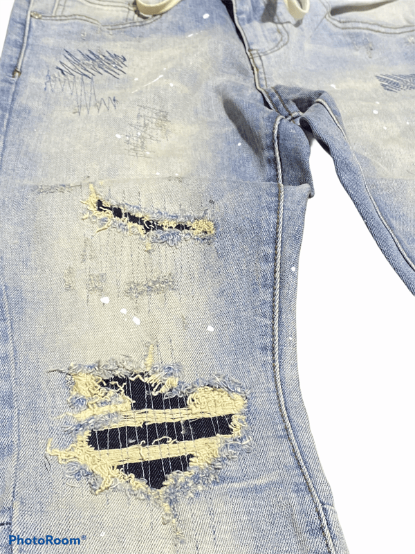 Thrt Rip and Repair Jean (Blue)