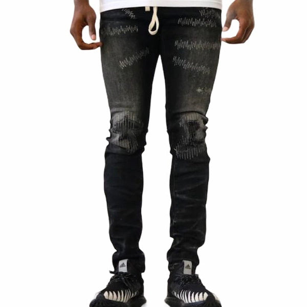 Thrt Rip and Repair Denim (Black)