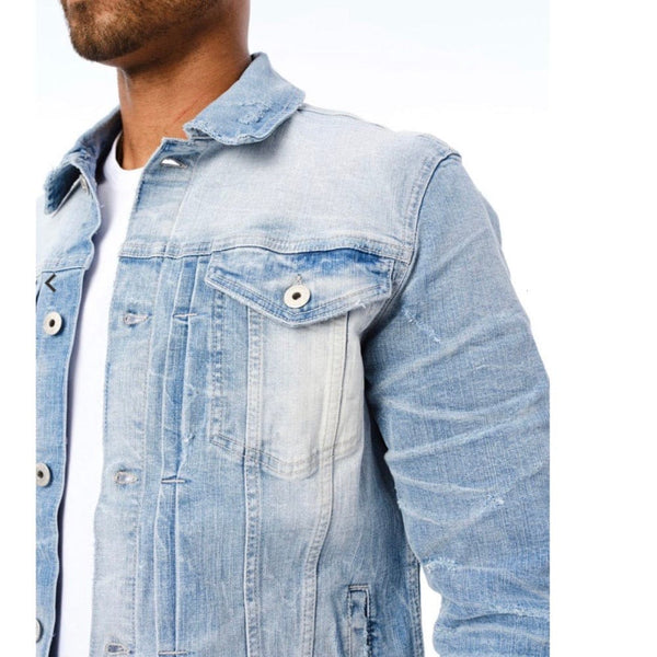 Jordan Craig Soho Denim Trucker Jacket (Lightning Blue)