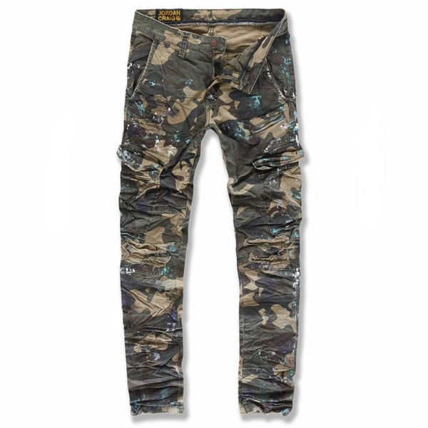 Jordan Craig Sean Highland Stacked Cargo Pants (Woodland) 5635C
