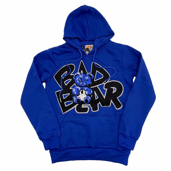 Retro Label 3S Bad Bear Hoodie (Royal)