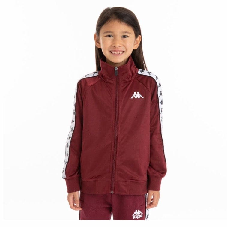 Kids 222 Banda Anniston Track Jacket (Red Dahlia/White)
