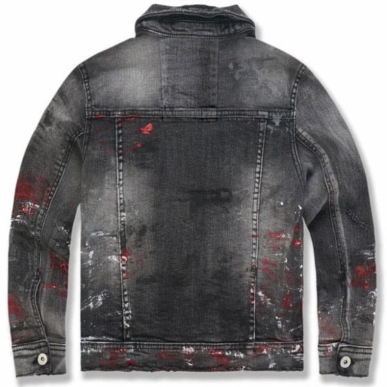 Kids Jordan Craig Avalanche Denim Trucker Jacket (Bred) 91510AB