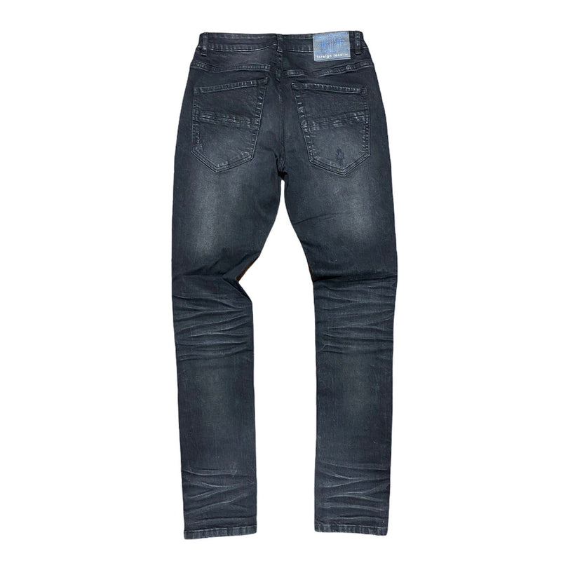 Foreign Local Rip and Repair Jeans (Black) FL-190926P