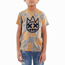 Kid's Cult Shimuchan Flocking Graphic T-Shirt (Mold) 88B9-KT05G