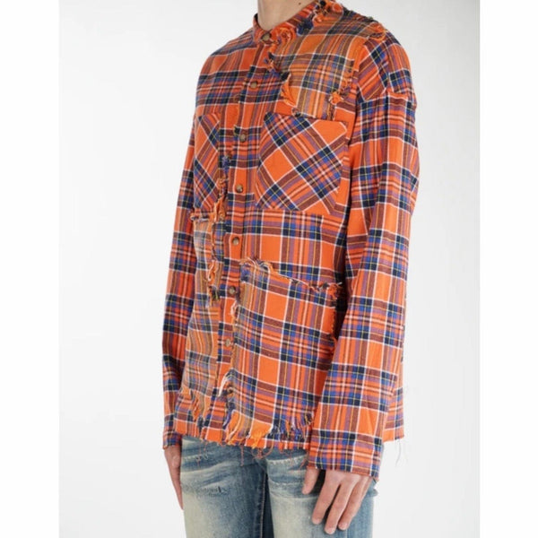 Valabasas Button Down Shark Shirt (Orange) VLBS2036