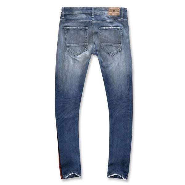Jordan Craig Jean Sean Grand Prix Striped Red