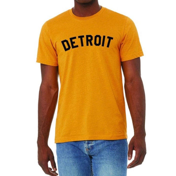 Ink Detroit Basic Unisex T Shirt (Mustard)