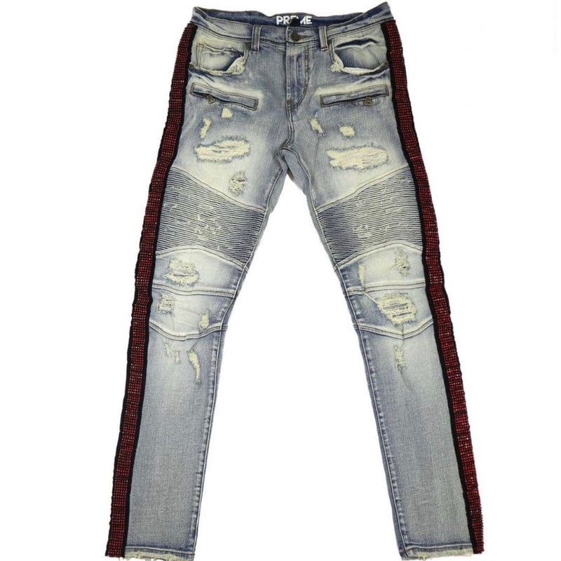 Preme Red Stone Jeans