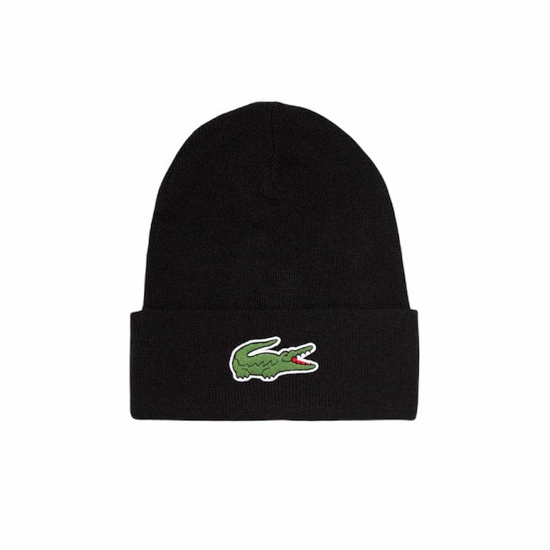 Lacoste Men's Wool Blend Knit Cap (Black) RB1081