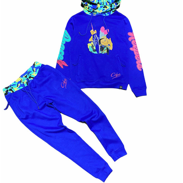 Civilized Peace Keeper Pullover Hoodie Set (Royal)