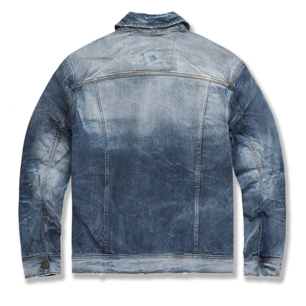 Jordan Craig Soho Denim Trucker Jacket (Aged Wash) 91512A