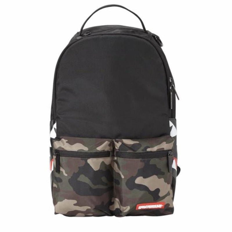 Sprayground Camo Side Shark Cargo Backpack