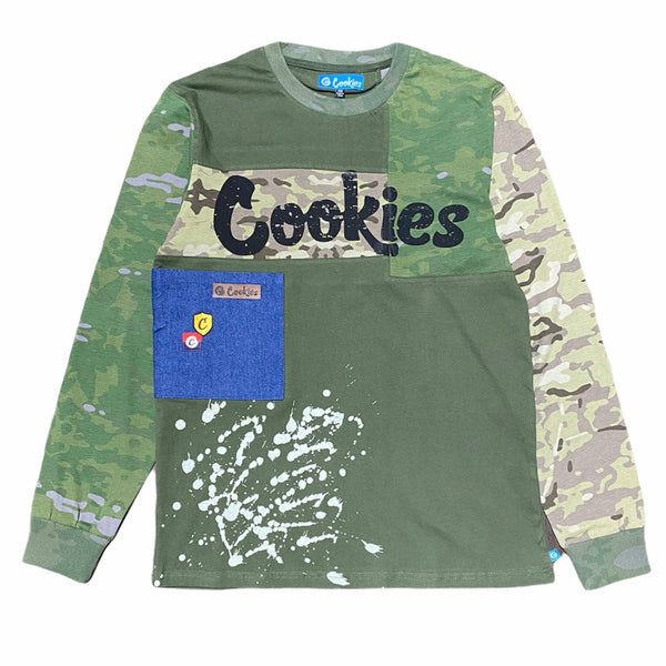 Cookies Backcountry L Sleeve Cotton Jersey Sweatshirt (Olive)