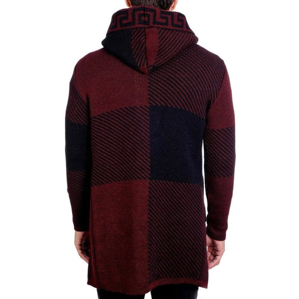 Lcr Hooded Sweater (Burgundy/Black)