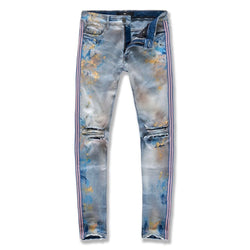 Jordan Craig Sean Talladega Striped Denim Jeans (Miami Vice) JM3419