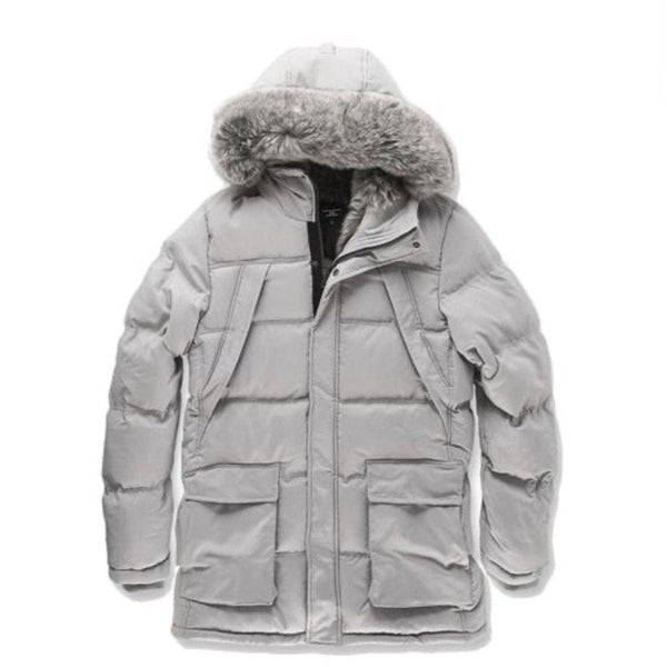 JORDAN CRAIG FARGO FUR LINED PARKA 2.0 (LIGHT GREY)